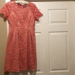 Vince Camuto Pink  Lace Dress
